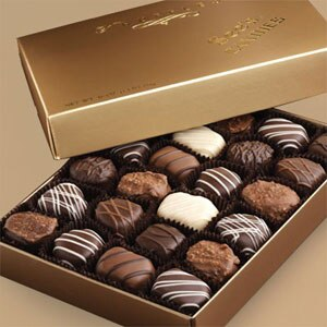 One of GAYOT's Top Mother's Day Gifts, See's Candies 1 lb. Truffles come in an assortment of flavors such as Cafe Hazelnut, Lemon, Key Lime, Chocolate Chip, and Raspberry