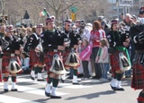 Bagpipers in Philadelphia's St. Patrick's Day Parade