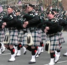 Bagpipers in the Philadelphia St. Patrick's Day Parade
