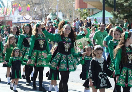Irish dancers celebrate St. Patrick's Day in Las Vegas