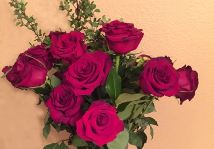 A bouquet of roses is a traditional and well-received Valentine's Day Gift