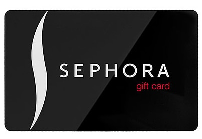 The Sephora gift card makes a great present for men and women