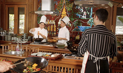 Sharpen your skills in the kitchen at the Dhara Dhevi Cooking Academy in Chiang Mai, Thailand