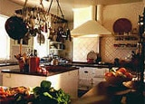 A cooking area at Thorn Park Country House