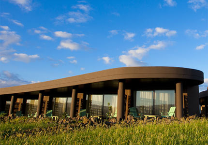 The exterior of Hangaroa Eco Village & Spa in Easter Island, Chile