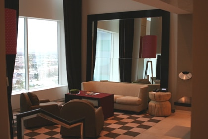 SKYLOFTS at MGM Grand living room in Las Vegas, NV