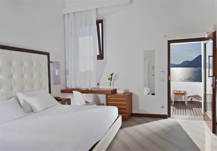 A guest room at Casa Angelina on the Amalfi Coast in Italy