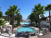 The pool at Bacara Resort & Spa in Santa Barbara, CA