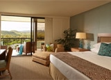 A guest room at Turtle Bay Resort Spa