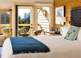 A guest room at Ventana Inn & Spa in Big Sur, California