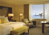 A guest room at The Ritz Carlton New York, Battery Park