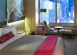 A guest room at the W New York Times Square