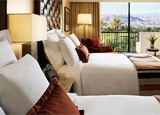 A guest room at JW Marriott Desert Springs Resort & Spa in Palm Desert, California