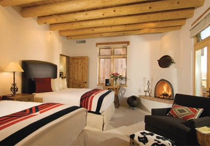 A guest villa at Bishop's Lodge Santa Fe in New Mexico