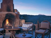 Outdoor dining at Bishop's Lodge Santa Fe in New Mexico