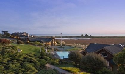 Exterior view of Bodega Bay Lodge in Bodega Bay, California