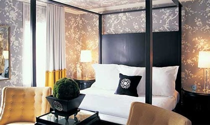 A room at Maison 140 in Beverly Hills, California