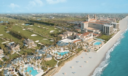 The Breakers overlooking the oceanfront in Palm Beach, Florida