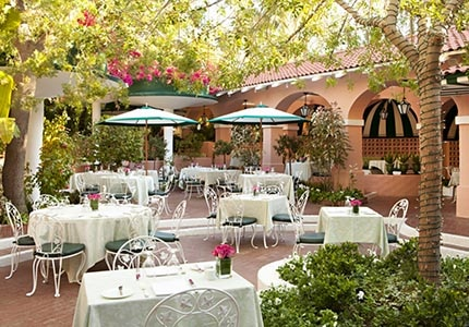 The Polo Lounge at The Beverly Hills Hotel in Beverly Hills, California