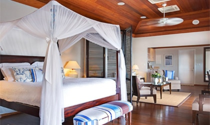 A suite at Hotel Le Toiny in St. Barths