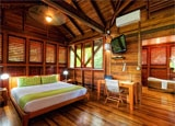 A guest room at Secret Bay in Dominica