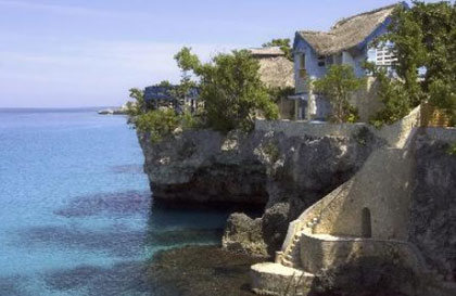The Caves, an intimate resort, sits on top of a limestone cliff in Jamaica