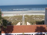 The view of the beach from Casa Marina in Jacksonville Beach, Florida