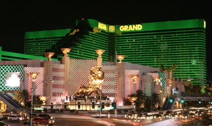 The glittering lights of the MGM Grand Las Vegas