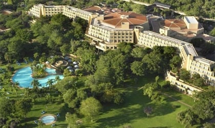 An aerial view of Sun City Resort in South Africa