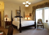 A guest room at Oheka Castle Hotel & Estates in Huntington, NY