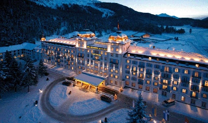 An exterior view of Kempinski Grand Hotel de Bains in Switzerland
