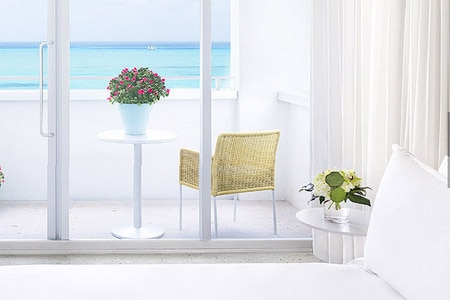 A guest room at Shore Club South Beach in Miami, Florida