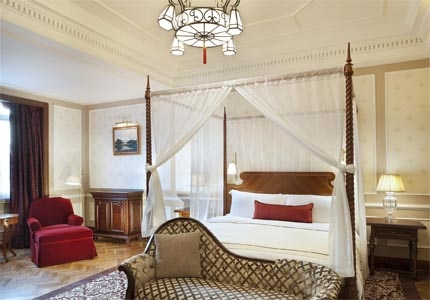 A guest room at The Astor Hotel, A Luxury Collection Hotel, Tianjin in China