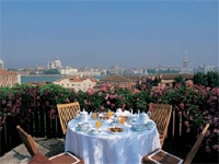 Private terrace view at Hotel Cipriani in Venice, Italy