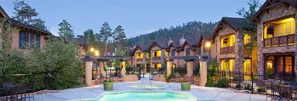 The exterior of The Club at Big Bear Village in California