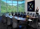 A meeting room at Aspen Meadows Resort, one of GAYOT's Top 10 Conference Hotels Worldwide