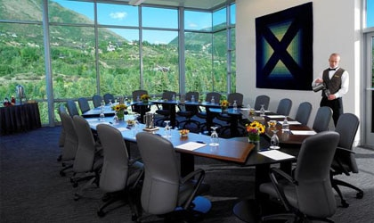 Meeting room with a view at Aspen Meadows Resort in Colorado