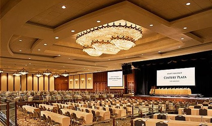 The ballroom at the Hyatt Regency Century Plaza