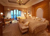 A guest room at Emirates Palace Abu Dhabi in the United Arab Emirates