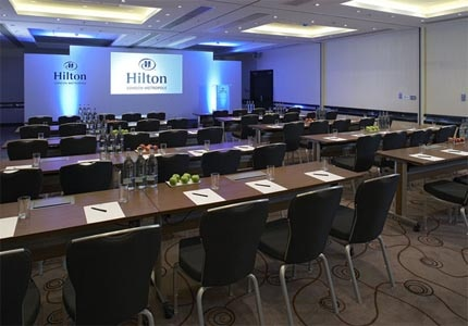 A meeting room at Hilton London Metropole in England