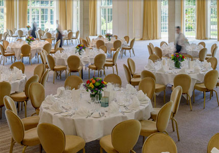 The large conference rooms at The Grove open up to the beautiful English countryside