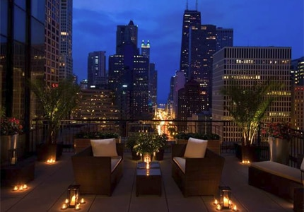 Offering sweeping city views, Conrad Chicago is one of GAYOT's Top 10 Romantic Hotels in Chicago, Illinois