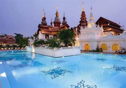The pool at The Dhara Dhevi in Chiang Mai