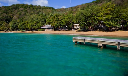 Blue Waters Inn in Batteaux Bay, Tobago