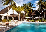 Palau Pacific Resort features a relaxed South Pacific style.