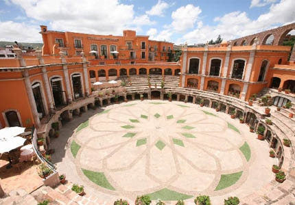 The restored nineteenth-century San Pedro bullfighting ring at Quinta Real Zacatecas in Mexico