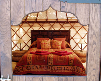 The Afghani yurt at The Hoopoe Yurt Hotel in Spain