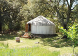 One of the yurts at The Hoopoe Yurt Hotel in Andalucia, Spain