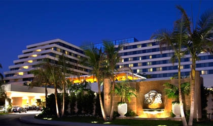 The exterior of Fairmont Newport Beach in Southern California