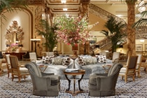 Hotel lobby at The Fairmont San Francisco in California